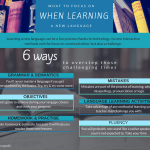 What to Focus on when Learning a New Language